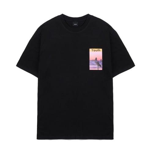 데어로에_Sunset T-shirts black