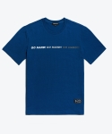셔터(SHUTTER) SHUTTER MOVE LOGO 1/2 T-SHIRTS (DEEP BLUE)