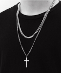 셉텐벌5(SEPTEMBER5) Surgical cross layered necklace