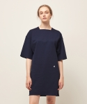모한(MOHAN) [MOHAN] SQUARE NECK DRESS NAVY