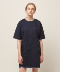 모한(MOHAN) [MOHAN] DENIM SHORT DRESS INDIGO BLUE