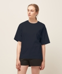 모한(MOHAN) [MOHAN] SLIT BASIC T-SHIRT NAVY