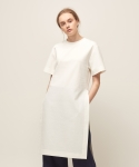 모한(MOHAN) [MOHAN] SIDE SLIT TUNIC DRESS WHITE