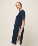 모한(MOHAN) [MOHAN] SIDE SLIT TUNIC DRESS NAVY