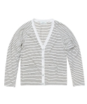 세컨무브(SECONDMOVE) RAMIE STRIPE CARDIGAN_IVORY