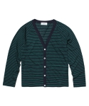 RAMIE STRIPE CARDIGAN_GREEN