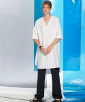 레이트(LEIT) V NECK LONG SHIRTS WHITE