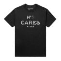 유에스에이 머친다이징(U.S.A MERCHANDISING) USAHMMERCHANDISING No1 Cares Text Tee (Black)
