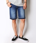 크래프티드(KRAFTED) Cut-off denim shorts B