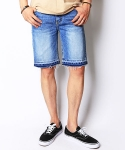 크래프티드(KRAFTED) Cut-off denim shorts LB