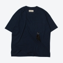 프랭크 도미닉(FRANK DOMINIC) FEATHER OVERSIZE T-SHIRT(NAVY)