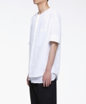 노이어(NOIRER) Shadow Overfit 3/4 shirts(WH)