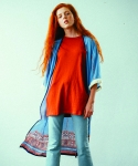 러닝하이(RUNNING HIGH) [UNISEX] VINTAGE CHIC FRINGE ROBE [SKY BLUE]