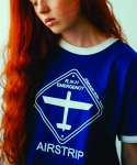 러닝하이(RUNNING HIGH) [UNISEX] AIRSTRIP ROAD SIGN CUT&SEWN [BLUE]