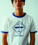 러닝하이(RUNNING HIGH) [UNISEX] AIRSTRIP ROAD SIGN CUT&SEWN [WHITE]