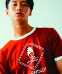 러닝하이(RUNNING HIGH) [UNISEX] BURNING ROAD SIGN CUT&SEWN [RED]