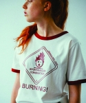 러닝하이(RUNNING HIGH) [UNISEX] BURNING ROAD SIGN CUT&SEWN [WHITE]