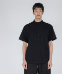 로우 투 로우(RAW TO RAW) saint short sleeve pique tee(black)