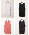 시에스타(SIESTA) SIESTA MUJI SLEEVELESS [WHITE/BLACK/PINK/CHARCOAL]