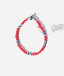 WHITE HEART MIX BRACELET RED