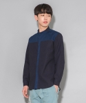 디그래프(D'GRAPH) DENIM NO COLLAR SHIRTS