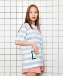 디그래프(D'GRAPH) STRIPE T LIGHT BLUE