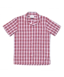 SEERSUCKER HWAIIAN SHIRT_RED CHECK