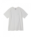 원 아이 클로즈드(WON I CLOSED) [원아이클로즈드] WON I CLOSED / SNEAK A PEEK HALF SLEEVE T-SHIRT / WHITE