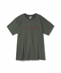 원 아이 클로즈드(WON I CLOSED) [원아이클로즈드] WON I CLOSED / FROM BEHIND HALF SLEEVE T-SHIRT / OLIVE GREEN
