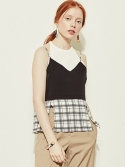 블랭크(BLANK) CHECK SLIT TOP-WH