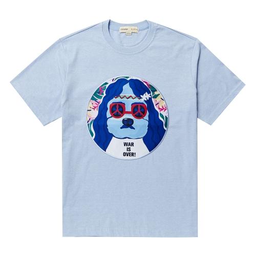 비욘드클로젯_JOHN-MUSIC DOG PATCH 1/2 TS SKY BLUE