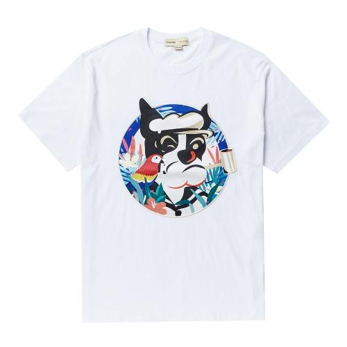 비욘드클로젯_POP-SAILOR DOG PATCH 1/2 TS WHITE