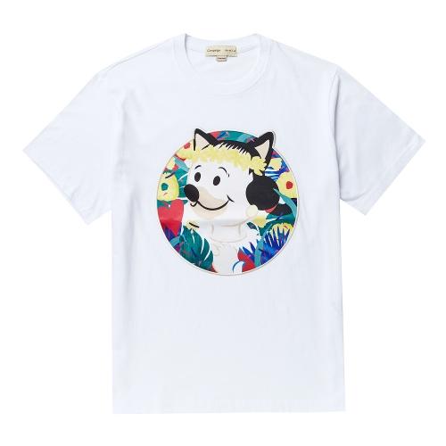 비욘드클로젯_OLIVE GARDEN DOG PATCH 1/2 TS WHITE