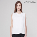 메케나(MEKENNA) MeKENNA MESH PATCHED cotton sleeveless top_MX2Y2TS0160