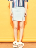 블랭크(BLANK) SLIT MINI SKIRT-SB