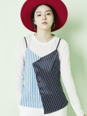 블랭크(BLANK) STRIPE TOP-BL