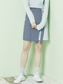 블랭크(BLANK) LAYERED STRIPE SKIRT-BL