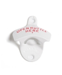 THE CLASSIC WALL MOUNT BOTTLE OPENER WHITE