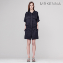MeKENNA Oversized LINEN SHORT jumpsuit_MX2Y2OP0080