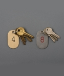 캔디 디자인 엔 웍스(CANDY DESIGN & WORKS) LUNAR CALENDAR PLATE KEY TAG 12 TYPE