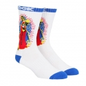 디지케이(DGK) Pray Crew Sock Pair - White