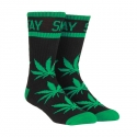 디지케이(DGK) Stay Smokin Crew Sock Pair - Black/Green
