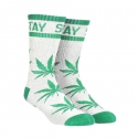 디지케이(DGK) Stay Smokin Crew Sock Pair - White/Green
