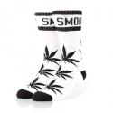 디지케이(DGK) Stay Smokin Crew Sock Pair - White/Black