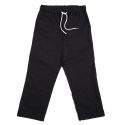 Regular fit 20s chino twill fatigue pants - black