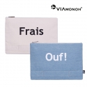비아모노(VIAMONOH) [비아모노] PLAYFUL CANVAS CLUTCH (VAFS9190)
