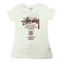 스투시() STUSSY WOMEN WORLD TOUR HALFTONE SS CREW