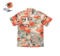 로버트제이씨 하와이(ROBERT J.C HAWAII) Robert J.C Hawaii - 102C.739 Hawaii Shirts [Orange]