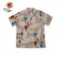 로버트제이씨 하와이(ROBERT J.C HAWAII) Robert J.C Hawaii - 102C.880 Hawaii Shirts [Beige]