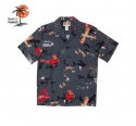 로버트제이씨 하와이(ROBERT J.C HAWAII) Robert J.C Hawaii - 250.845 Hawaii Shirts [Black]